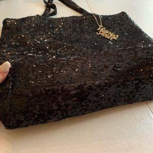 NWOT Victoria's Secret Black Sequin Tote